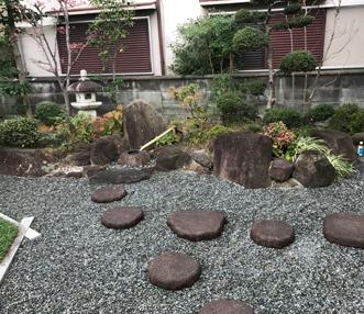 施工後の中庭