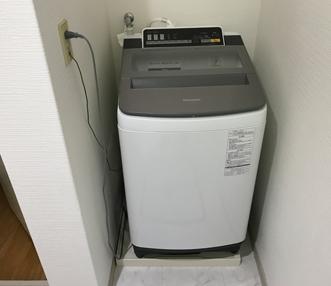 施工後の洗濯機周り