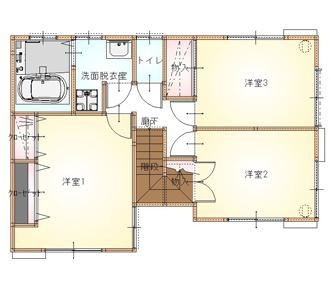 施工後の1階平面図