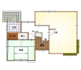 施工前の2階平面図