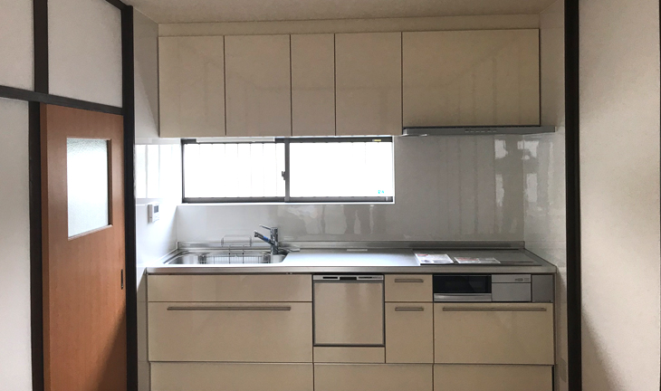 新しく設置されたキッチン