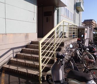 施工前のエントランス階段
