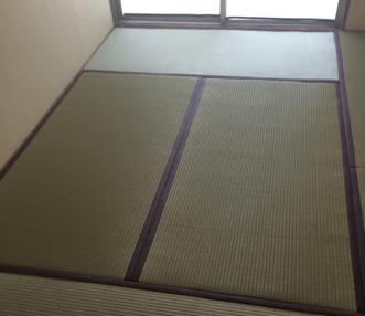 畳の表替えをした後の和室