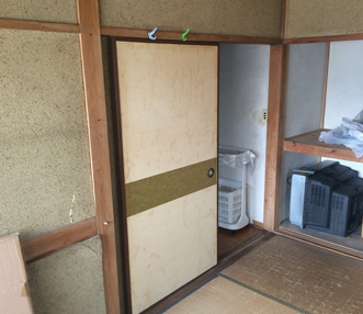 施工前の和室の入口