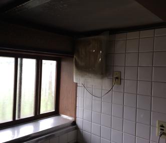 施工前のキッチンの換気扇