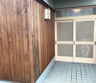 施工後の玄関