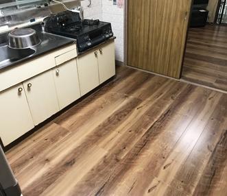 施工後のキッチン
