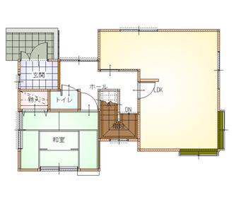 施工後の2階平面図
