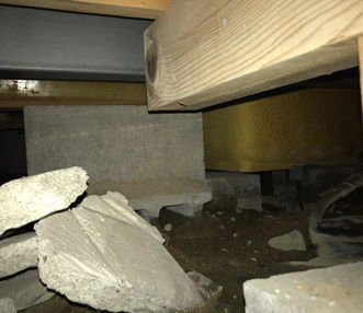 現調時の浴槽下土間