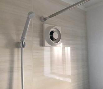 施工後の浴室換気扇