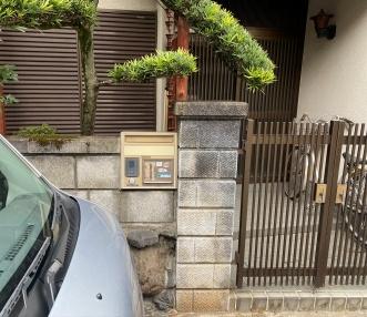 施工前の門扉