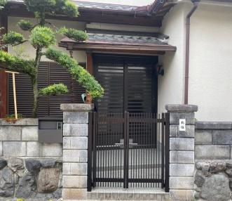 施工後の門扉