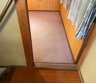 施工前の洋室の入り口
