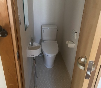 施工後に新設したトイレ