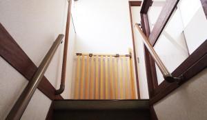 階段転落防止柵