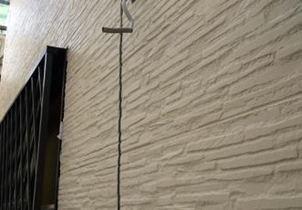 正面の壁のサイディング