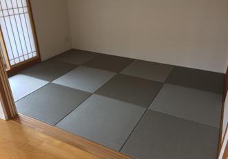 施工後の琉球畳