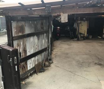 施工前のガレージ