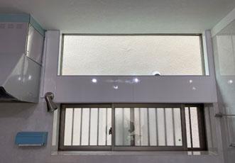 施工後のFIX窓